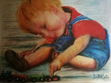 chalk_child playing (2)